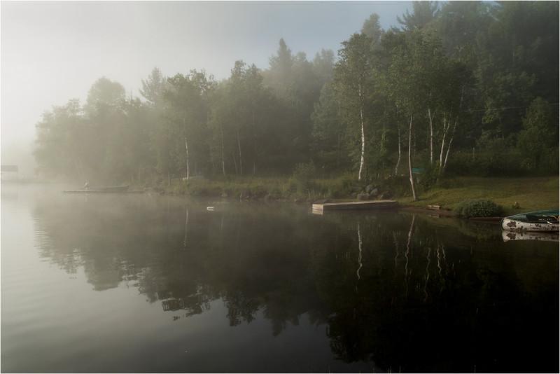 Adirondacks Blue Mountain Lake July 2015 Morning Mist Sunrise 7