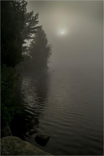 Adirondacks Blue Mountain Lake July 2015 Morning Mist Sunrise 1