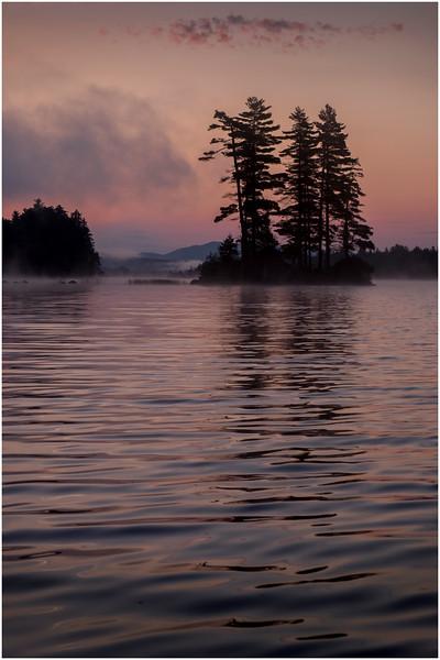 Adirondacks Forked Lake Morning Mist 9 July 2017