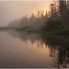 Adirondacks Forked Lake Morning Mist North Bay Inlet 6 June 2009
