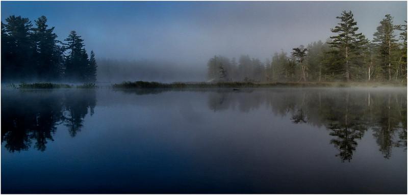 Adirondacks Bog River Morning Mist From Dusk to Dawn August 2013