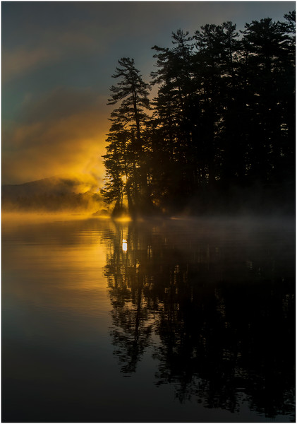 Adirondacks Lake Rondaxe Sunrise 18 July 2016
