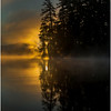 Adirondacks Lake Rondaxe Sunrise 18 July 2016