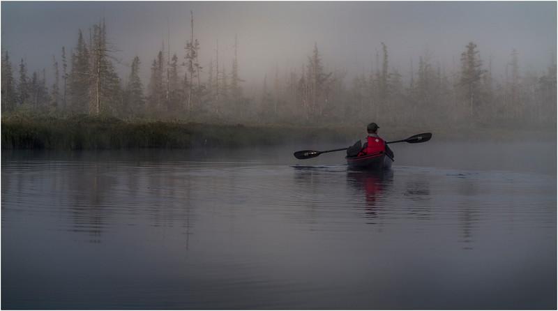 Adirondacks Forked Lake July 2015 Morning Mist After Sunrise Dan Way 14