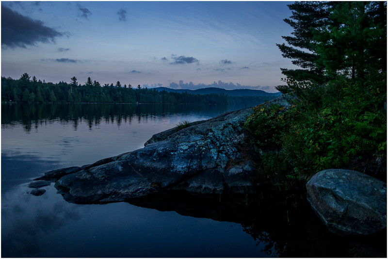Adirondacks Forked Lake Dusk from Campsite 36 2 August 2016