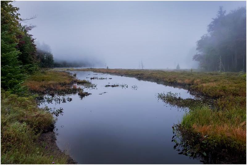 Adirondacks Cary Lake Morning Mist 17 September 2017