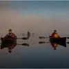 Adirondacks Forked Lake July 2015 Morning Mist Dan Way, Rick Rosen and Fisherman