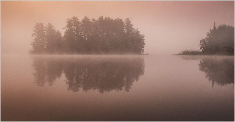 Adirondacks Rollins Pond Morning Mist 13 July 2019