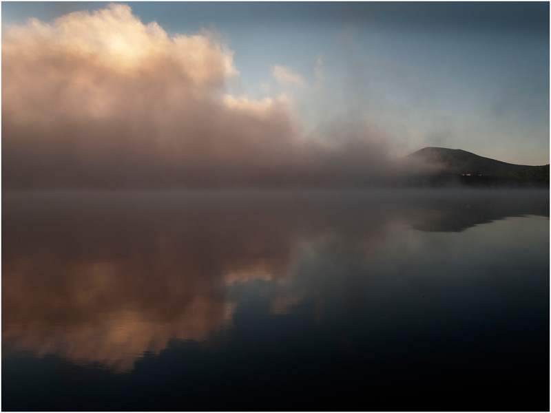 Adirondacks South Pond Mist Fog Bank October 2011