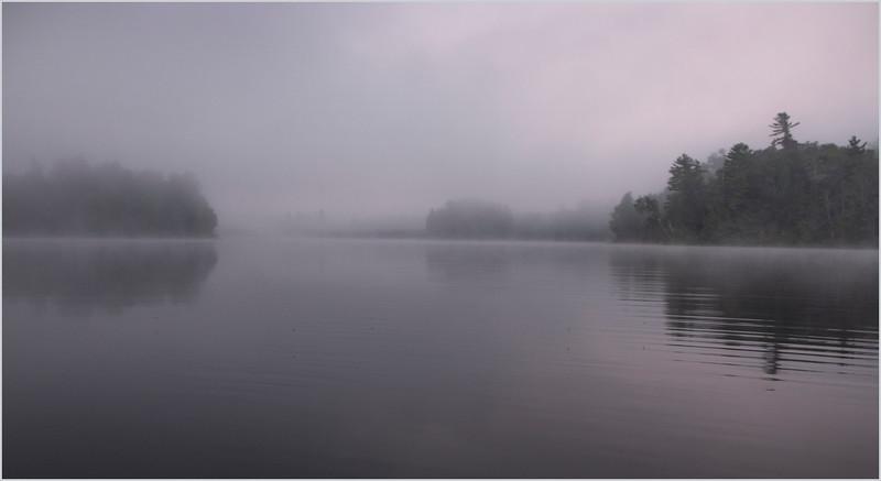 Adirondacks Rollins Pond Morning Mist 1 July 2019