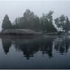 Adirondacks Blue Mountain Lake Morning Reflected Island2 July 2009