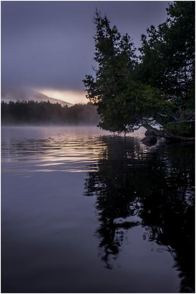 Adirondacks Newcomb Lake Morning Mist 5 July 2017