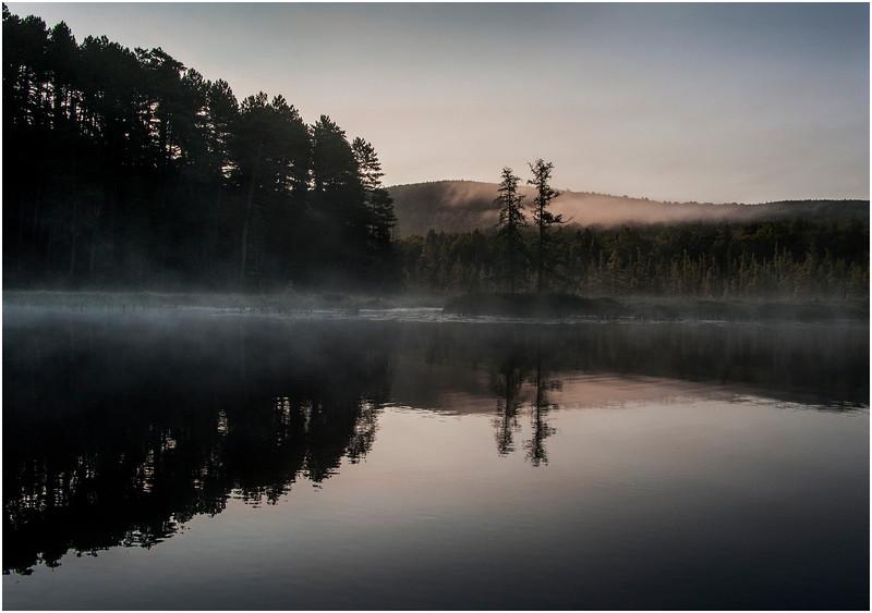 Adirondacks Raquette Lake August 2008 Mist Near Sunrise 5