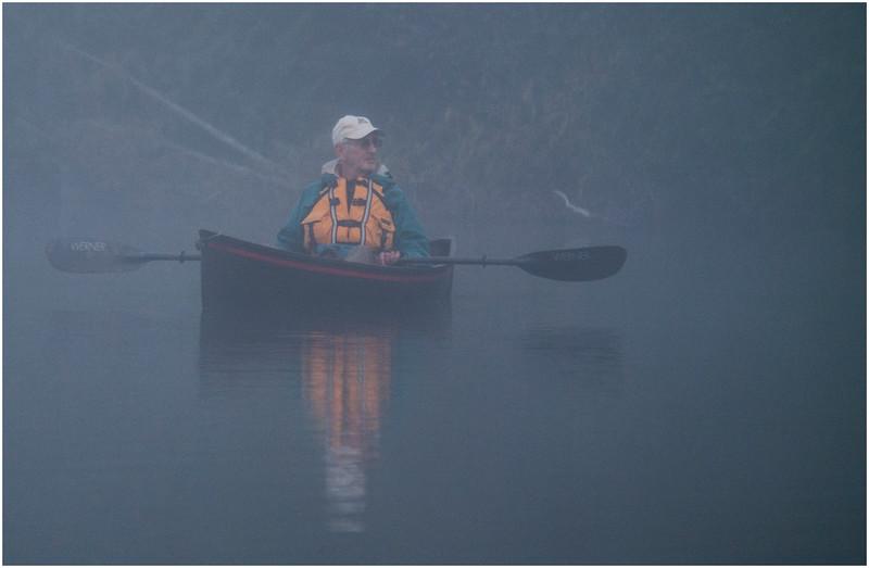 Adirondacks Newcomb Lake Morning Mist 39 July 2017