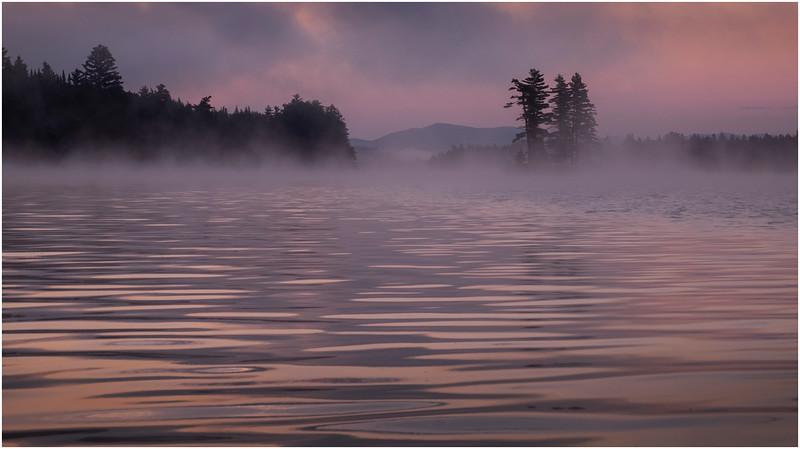 Adirondacks Forked Lake Morning Mist 8 July 2017
