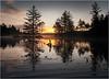 Adirondacks Utowana Lake Sunrise Through Trees 2 October 2009