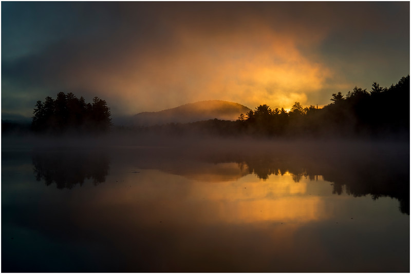 Adirondacks Lake Rondaxe Sunrise 10 July 2016