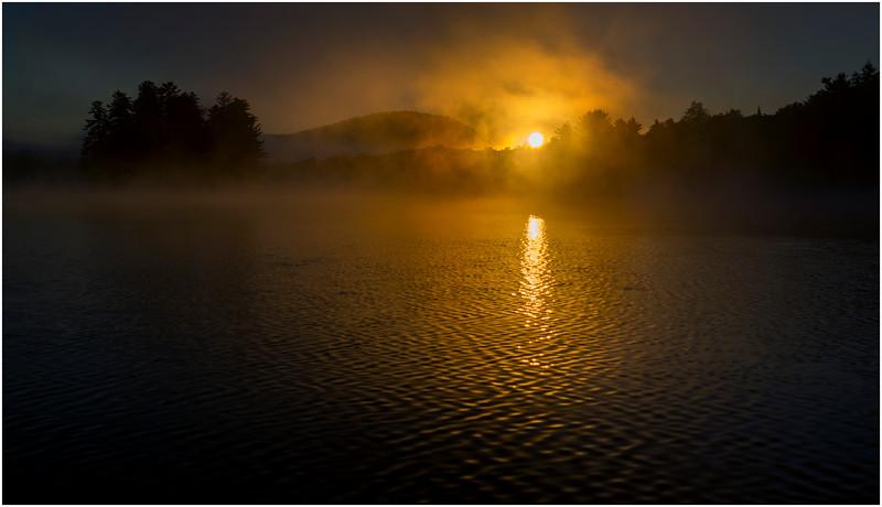Adirondacks Lake Rondaxe Sunrise 11 July 2016