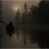 Adirondacks Bog River Mist Sunrise Paddler 7 August 2013