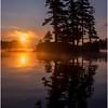 Adirondacks Forked Lake Morning Mist 28 July 2017
