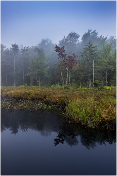 Adirondacks Cary Lake Morning Mist 18 September 2017