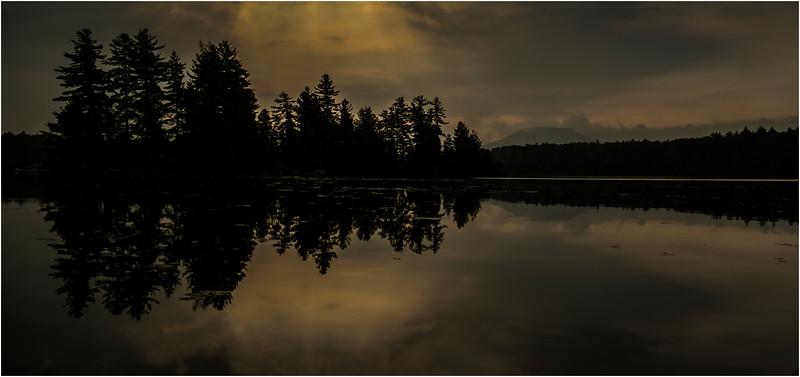 Adirondacks Forked Lake August 2015 OIsland Area After Sunrise 5