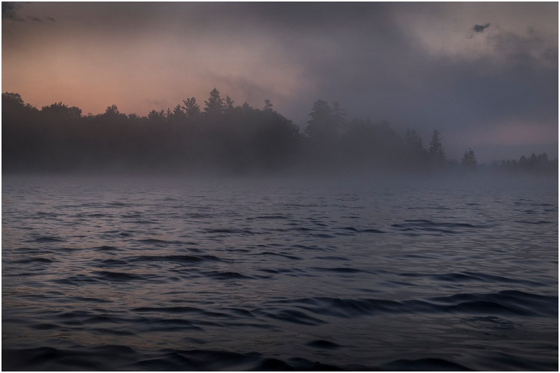 Adirondacks Forked Lake Morning Mist 3 July 2017