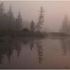 Adirondacks Forked Lake Morning Mist North Bay Inlet 5 June 2009