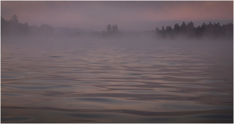 Adirondacks Forked Lake Morning Mist 4 July 2017