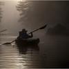 Adirondacks Bog River Mist Sunrise Paddler 12 August 2013