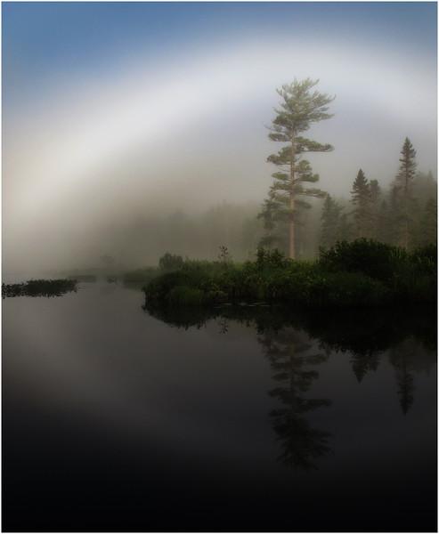Adirondacks Forked Lake July 2011 MistNorth Bay Inlet and Fog Halo4