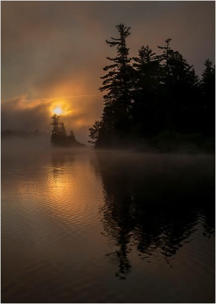 Adirondacks Forked Lake July 2015 Morning Mist Sunrise 5