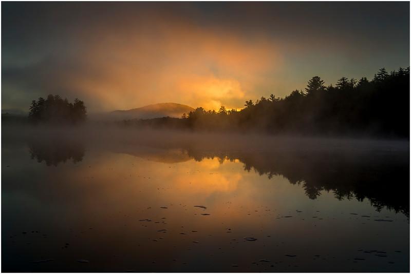 Adirondacks Lake Rondaxe Sunrise 7 July 2016