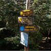 Adirondacks Algonquin Signposts at Wright Peak Turnoff September 2010