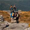 Adirondacks Algonquin Alpine Lawn Summit Trail Rock Cairn Hikers Descending September 2010
