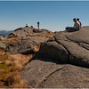 Adirondacks Algonquin Summit Rock Outcrops West with Hikers Resting September 2010