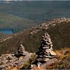 Adirondacks Algonquin Summit Alpine Lawn Rock Cairn Trail View Wright Peak Heart Lake September 2010