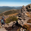 Adirondacks Algonquin Alpine Lawn Summit Trail Rock Cairn Hikers Descending Toward Timberline September 2010