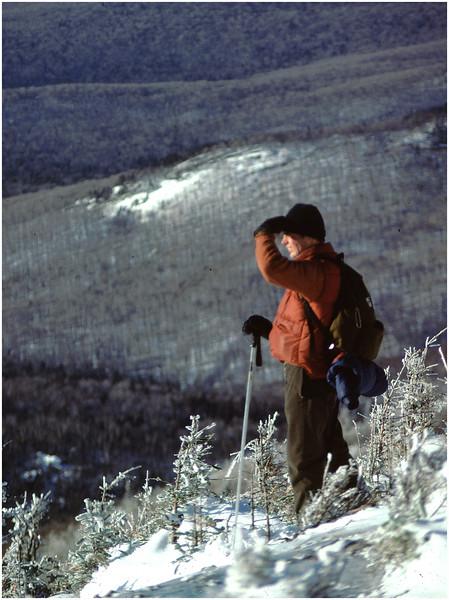 Adirondacks Classic Hiker Looking off Cascade Peak circa 1979