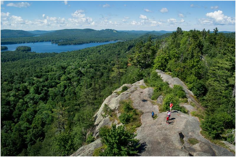 Adirondacks Bald Mountain First Lake from Firetower 1 July 2016