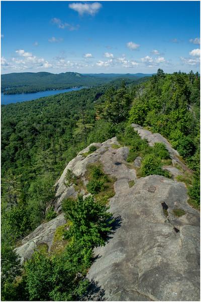 Adirondacks Bald Mountain First Lake from Firetower 3 July 2016
