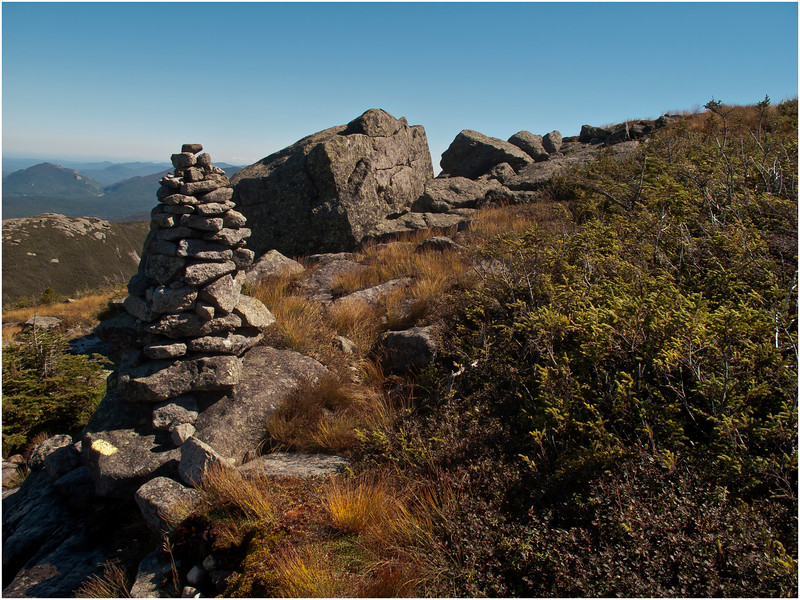 Adirondacks Algonquin Summit Alpine Lawn Rock Cairn September 2010