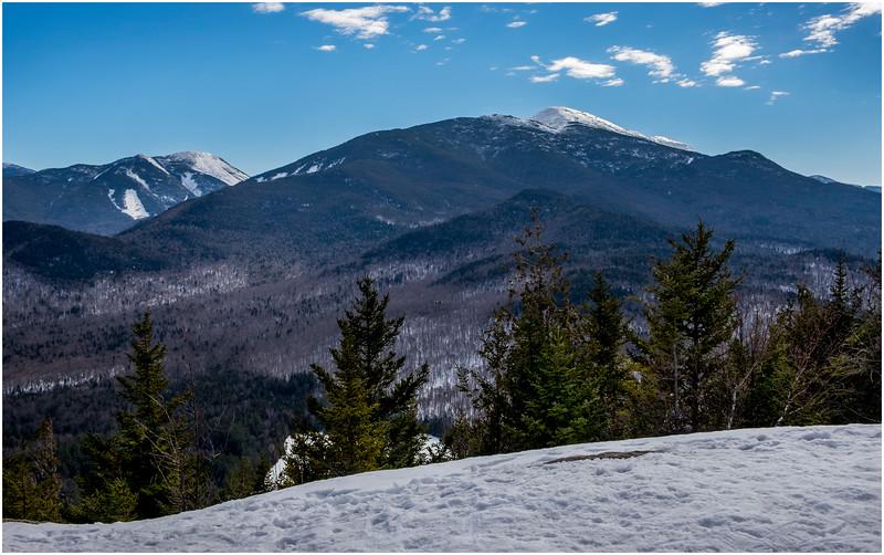 Adirondacks Mt  Colden and Algonquin Peak from Mt  Jo 2 February 2017