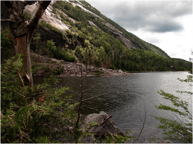 Adirondacks Avalanche Lake Looking South Towards Base of Trap Dike July 2012