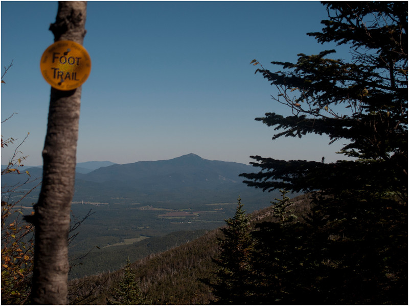Adirondacks Algonquin Trail Above Wright PeakTurnoff View of Whiteface September 2010