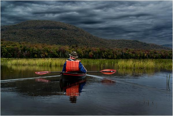 Adirondacks Cedar River Flow September 2015  Mike Prescott Paddling His Hornbeck 4