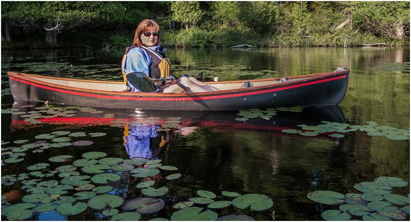 Adirondacks St Regis Long Pond Kim in Hornbeck 4 July 2009