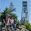 Adirondacks Bald Mountain Tom, Todd, Kim, Jennifer and Firetower July 2016
