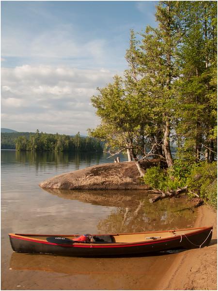 Adirondacks Blue Mountain Lake Osprey Island with Hornbeck July 2010