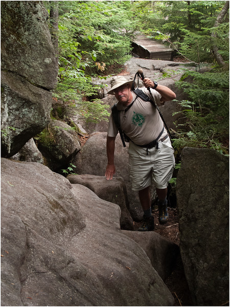 Adirondacks Avalanche Pass Hiker Kevin July 2012
